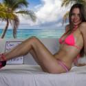 SET: Pink Bikini And High Heels
