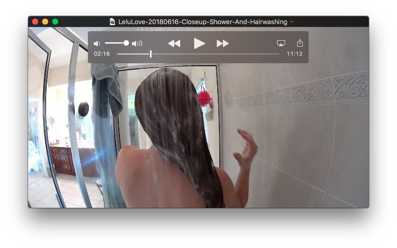 Closeup Shower And HairwashingJune 16, 2018