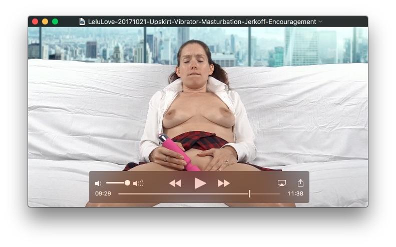 Upskirt Vibrator Masturbation Jerkoff Encouragement<br>October 21, 2017