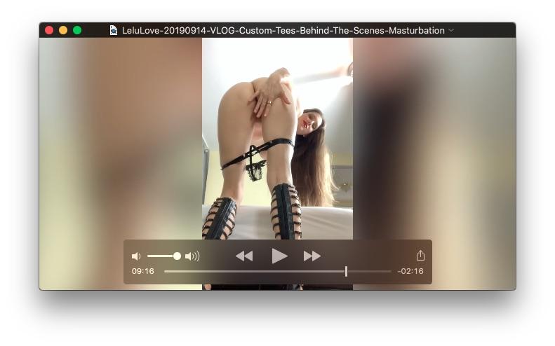 VLOG: Custom Tees Behind The Scenes Masturbation