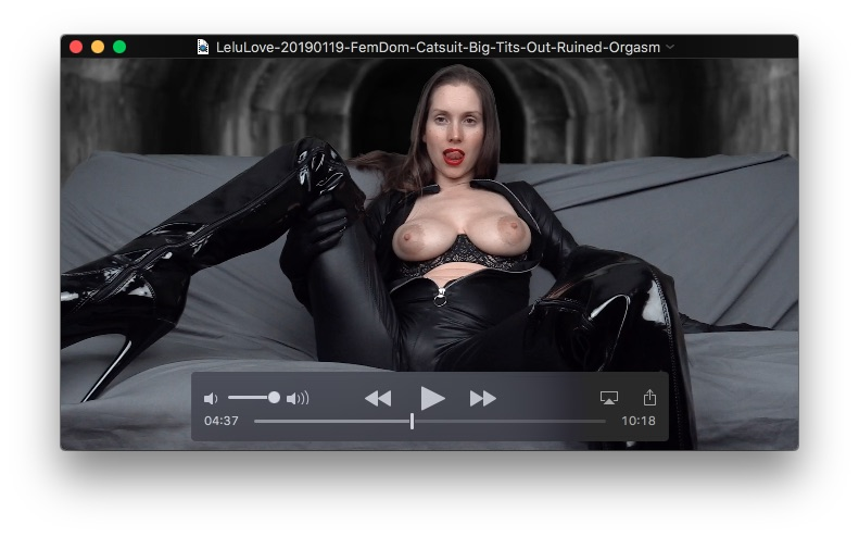 FemDom Catsuit Big Tits Out Ruined OrgasmJanuary 19, 2019