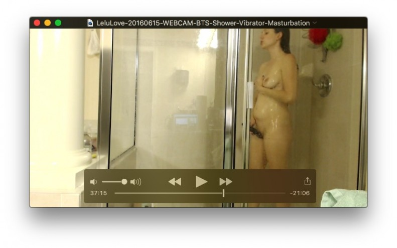 WEBCAM: BTS Shower Vibrator Masturbation<br>June 15, 2016