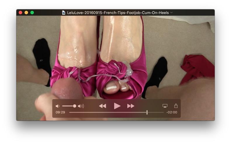 French Tips Footjob Cum On Heels<br>September 15, 2016
