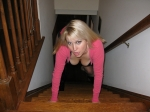 Spread Pussy On Staircase