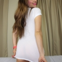 SET: Tiny White T-Shirt Striptease